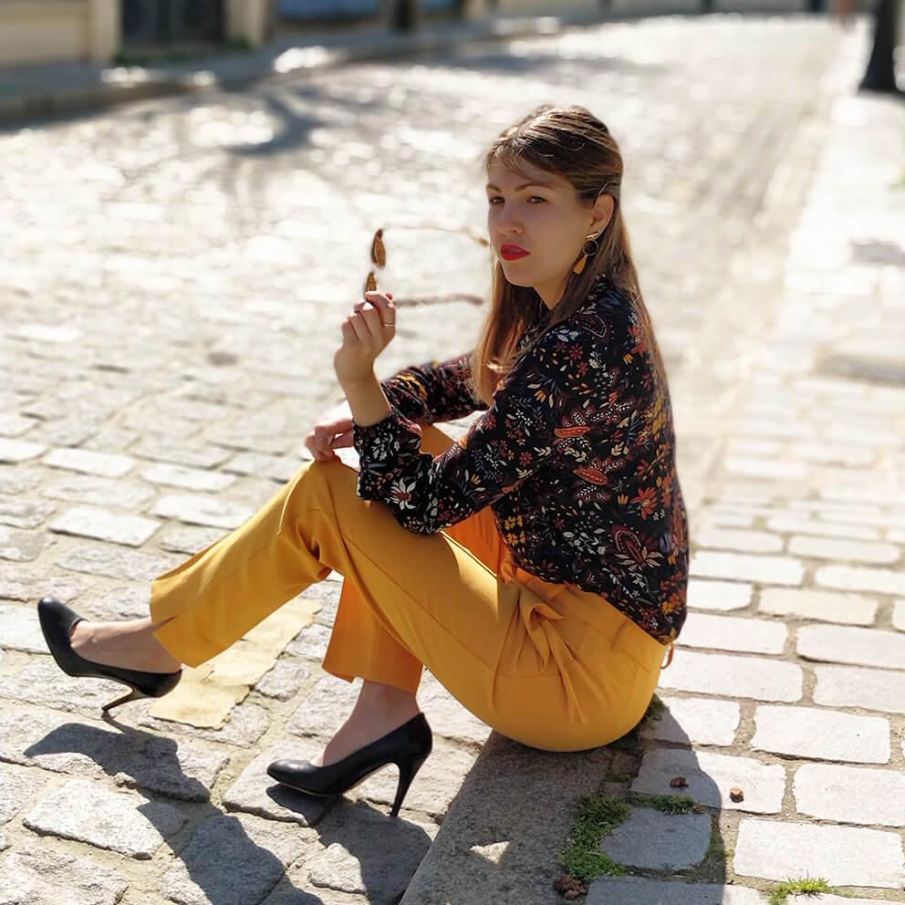 blog mode paris 19 janvier pantalon jaune - Du bonheur et de la couleur